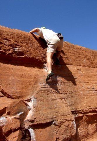 Leftover Lover on the Flat Top Boulder. Photo by K. Beguin.