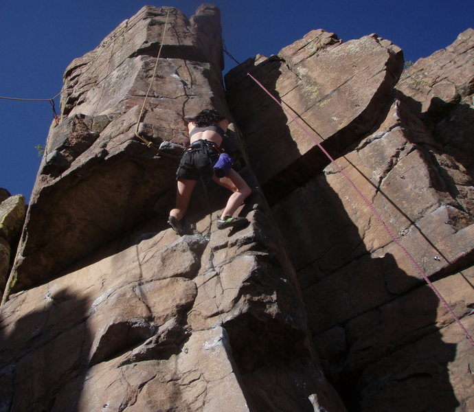 Climbing 'Limes, Lemons, and Tangerines' (Golden Cliffs/North Table, CO)