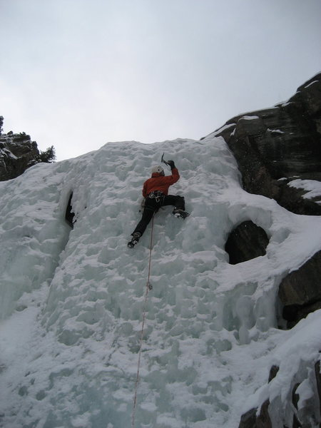 last day of ice climbing in Clear Creek