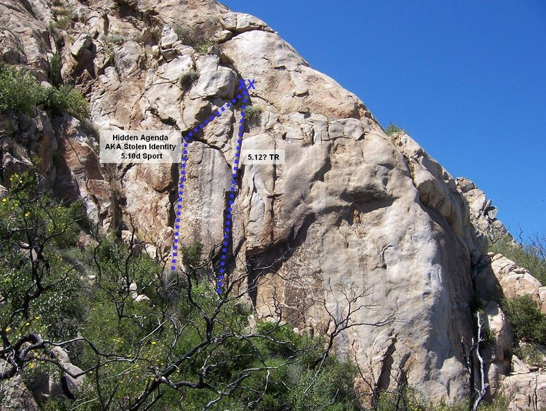 Some routes on the Hidden Wall