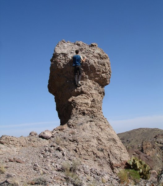 There are lots of cool rock formations nearing the base of the Castle Peaks in the Mojave Preserve. <br> <br> 4/30/08<br>