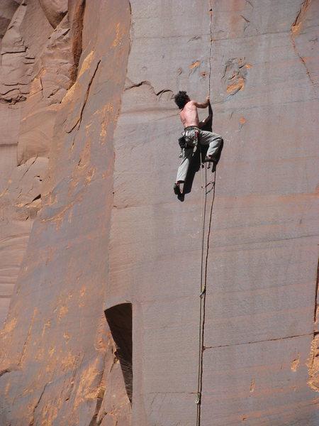 Doug climbs