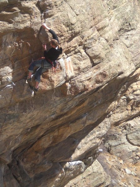 Ethan past the crux.