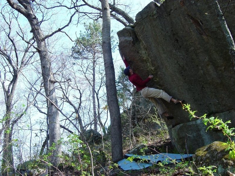 One of the fun problems on this boulder.