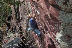 Rock Climbing Photo: Steve Tucker on Sometime Direct. May '08.