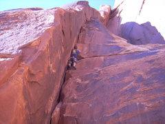 Rock Climbing Photo: Braxton on Rochambeau