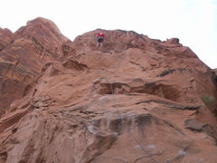 Rock Climbing Photo: Good view of the bolt pattern on Potstash.