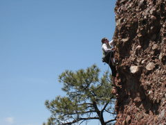 Rock Climbing Photo: Rachael moving up to more buckets on Super Arete. ...
