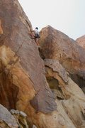 Rock Climbing Photo: Dave starting the upper section of Poodle in Shini...