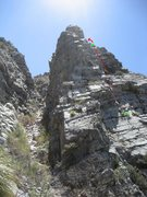 Rock Climbing Photo: Here is an approximation of the route.  I just fol...