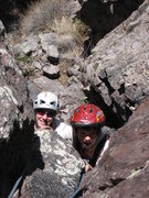 Rock Climbing Photo: Rachael and Cody (age 5) on pitch 1 of their first...