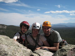 Rock Climbing Photo: Cody, Rachael and myself after completing Packrat ...