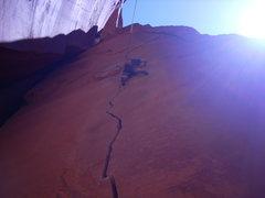 Rock Climbing Photo: Braxton(?) on Anunnaki