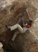 "Rock Climbing Photo: ""Chili Sauce"" V7. Photo by Blitzo."