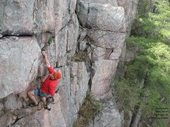 Rock Climbing Photo: Burt Linquist sets up for the crux, as Jerry and B...