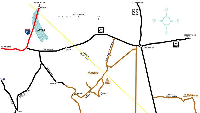 Castle Peaks Area. Map by John Hegyes