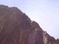 Rock Climbing Photo: Jesse pullin' at the lip.