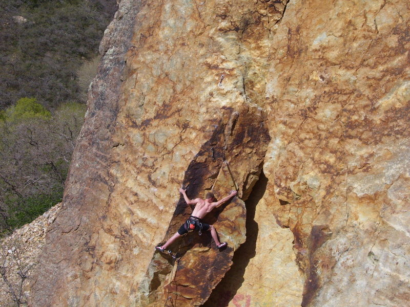 Rock Climbing Photo: We spotted this guy showing how to do the crux in ...