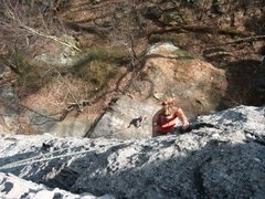 Rock Climbing Photo: Tanya climbs Vertical (5.6) at Breakaway Wall, Roc...