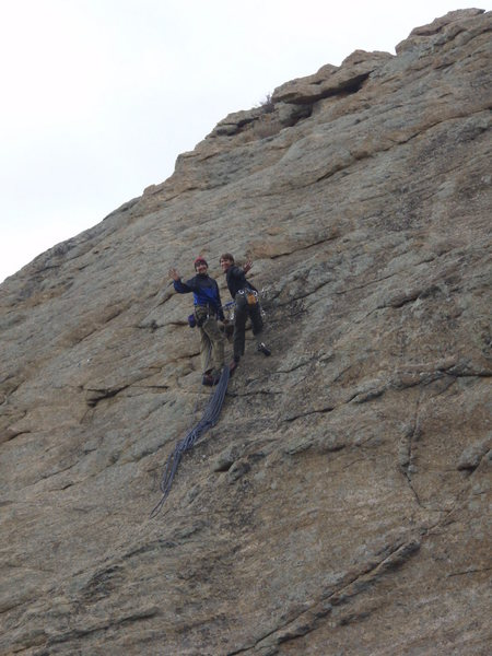 Barry & I at the top of Stout Blue Vein