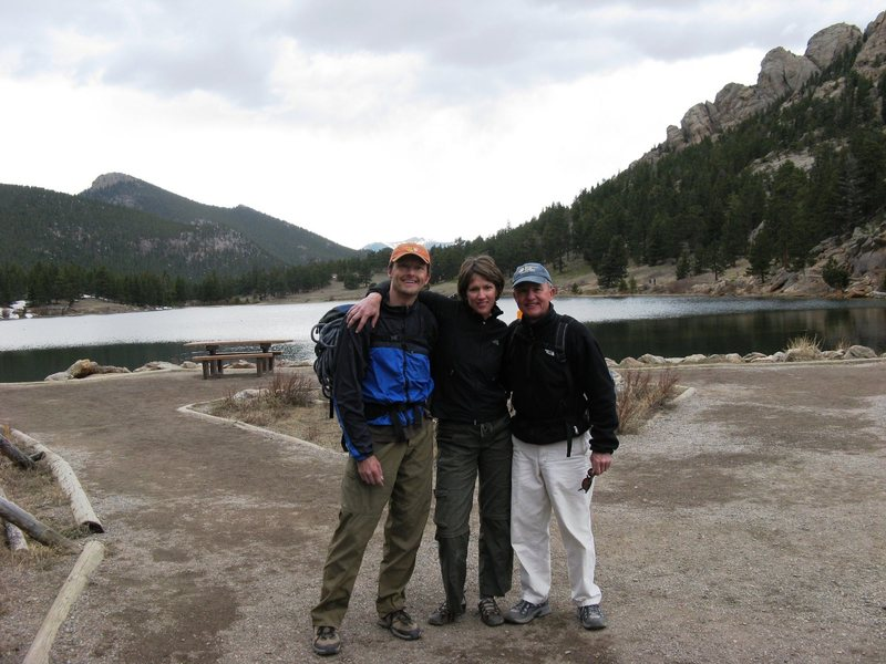 What a motley crew! Me, Barry & Greg after a great day of climbing.