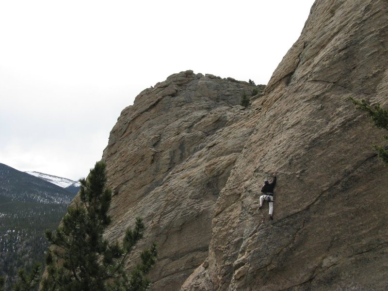 First sport lead on Coloradoditty (5.6) at Jurassic Park next to RMNP.