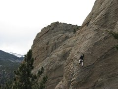 Rock Climbing Photo: First sport lead on Coloradoditty (5.6) at Jurassi...