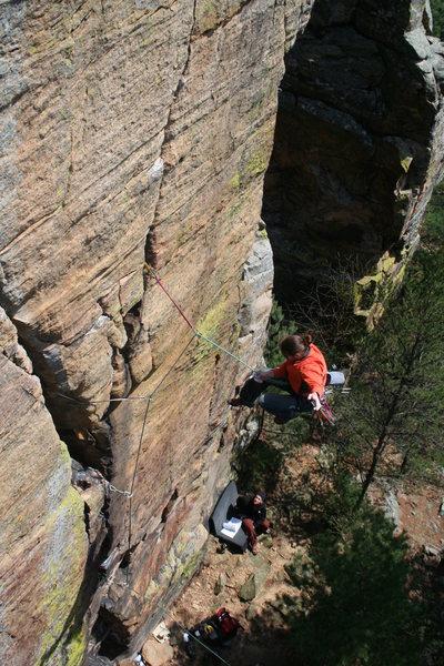 Rock Climbing Photo: Ben I. onsight attempt. May O8