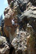 Rock Climbing Photo: Ryan showing how not clip bolt #5. Climb to the ne...