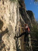 Rock Climbing Photo: lee envisioning all that's involved, lee has not s...