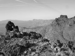 Rock Climbing Photo: Signing the summit register atop Dove Benchmark. A...