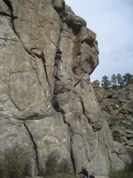 Rock Climbing Photo: Turbo at the crux.