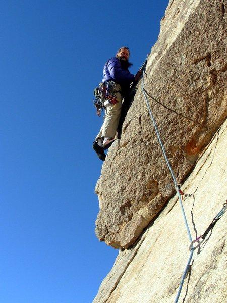 Rock Climbing Photo: Dylan on the SW Corner.