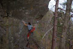Rock Climbing Photo: Nuria cruising the traverse moves.  Photo by Jay K...