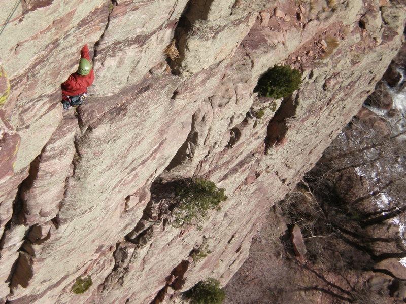Rock Climbing Photo: P2 of Calypso.