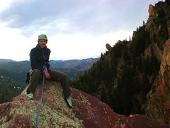 Rock Climbing Photo: Made it! Now for my 1st tandem night rappel...
