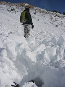 Rock Climbing Photo: Mid-sized avalanche triggered by me backcountry sk...