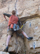 Rock Climbing Photo: Jack's Canyon Spring 2008.  Yes, that is trad gear...
