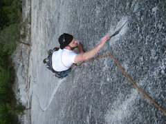 Rock Climbing Photo: Rob on the final crack moves of Mr. Natural. A few...