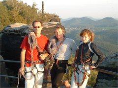 Rock Climbing Photo: Jesse Guthrie, Bernd Arnold, Anicka Guthrie