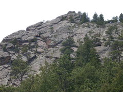 Rock Climbing Photo: The tree filled East Face of the Flying Flatiron f...