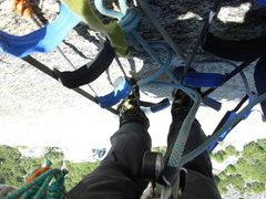 Rock Climbing Photo: Solo on Skull Queen