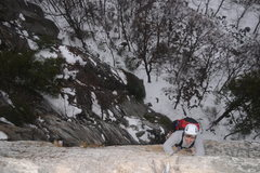 Rock Climbing Photo: Freezing but oh so classic 2nd pitch of High E.