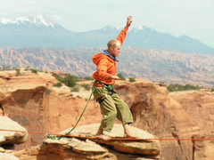 Rock Climbing Photo: In spring 2004 The Larry sent this 100' highline a...
