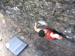 Rock Climbing Photo: Andrew Freeman on Breakfast of Champions, V3.