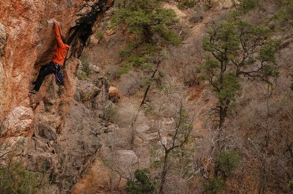 Rock Climbing Photo: Another lap on GJ's best sport route.