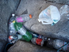 Rock Climbing Photo: Camp 6 - weak to leave trash on a wall, but easy t...