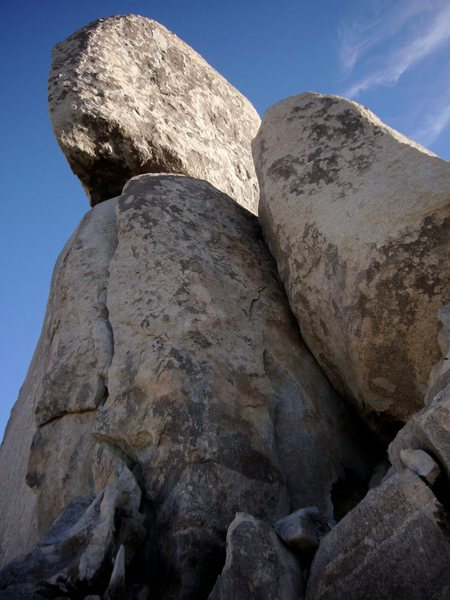 Rock Climbing Photo: The route starts at the big left facing flaring co...