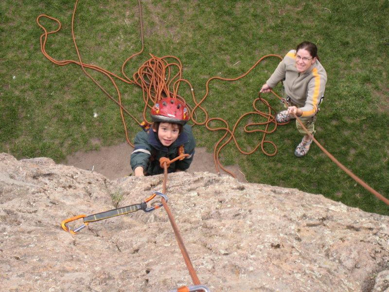 "Rock Climbing Photo: Cody enjoying himself on his way up ""Cud for ..."