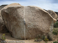 "Rock Climbing Photo: ""Stepladder Mantel"". Photo by Blitzo."